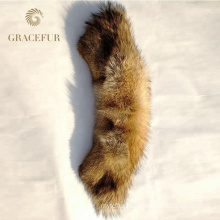 Wholesale Detachable Natural Color Real Coyote Fur Collar