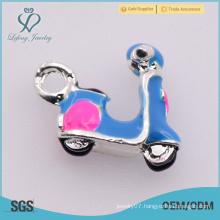 Unique fashion style alloy charms, bulk mini motorcycle custom charms
