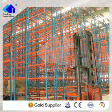 Jracking very narrow asile shelving and pallet racking