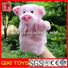 jouets mignons de marionnettes de main de porc en peluche mignonnes à vendre faisant des marionnettes de main