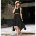 Hot Sale High Quality Black Flower Girl Maxi Dress Wholesale