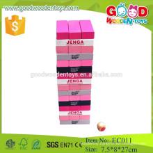 lovele pink educational wooden jenga game toys for kids