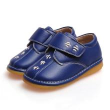 Navy Baby Boy Squeaky Schuhe Echtes Leder Weiche Schuhe