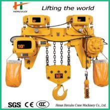 Travail haute efficacité 10 t palan à chaîne électrique