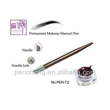 Pluma manual profesional de cobre del maquillaje del tatuaje