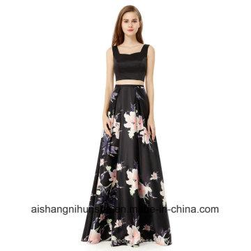 A-Line Halfter ärmellose Frauen Sexy Long Design Zurück Abendkleid