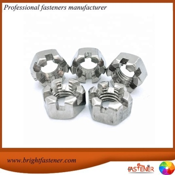 DIN937 Hex Thin Slotted Castle Nuts