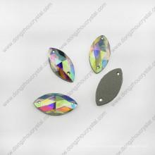 Navette Glass Jewelry Stone para accesorios de joyería