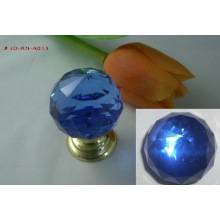 Blue Crystal Brass Knob (JD-KN-A013)