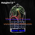 12-Zoll-Palm Tree Sea Water Sun Crystal Pageant Kronen