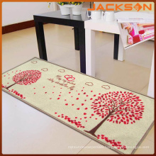 Fireproof Kitchen Soft Plain Polyester Floor Mats