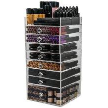 Boîte Organiseur de maquillage en acrylique cube avec 8 tiroirs