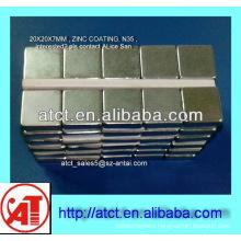 Neodymium cube magnet for shelf ,block magnet,ndfeb magnet