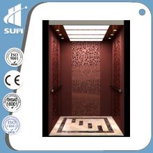 Espejo de acero inoxidable de mármol piso Villa Ascensor