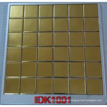 Mosaico de cerámica de metal de oro para el cuarto de baño