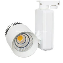 15/24/60 degrés 30W COB LED Track Light pour la galerie d'art