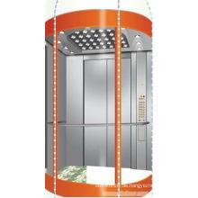 Maschinenraum-Panorama-Aufzug mit haarlosen Edelstahl
