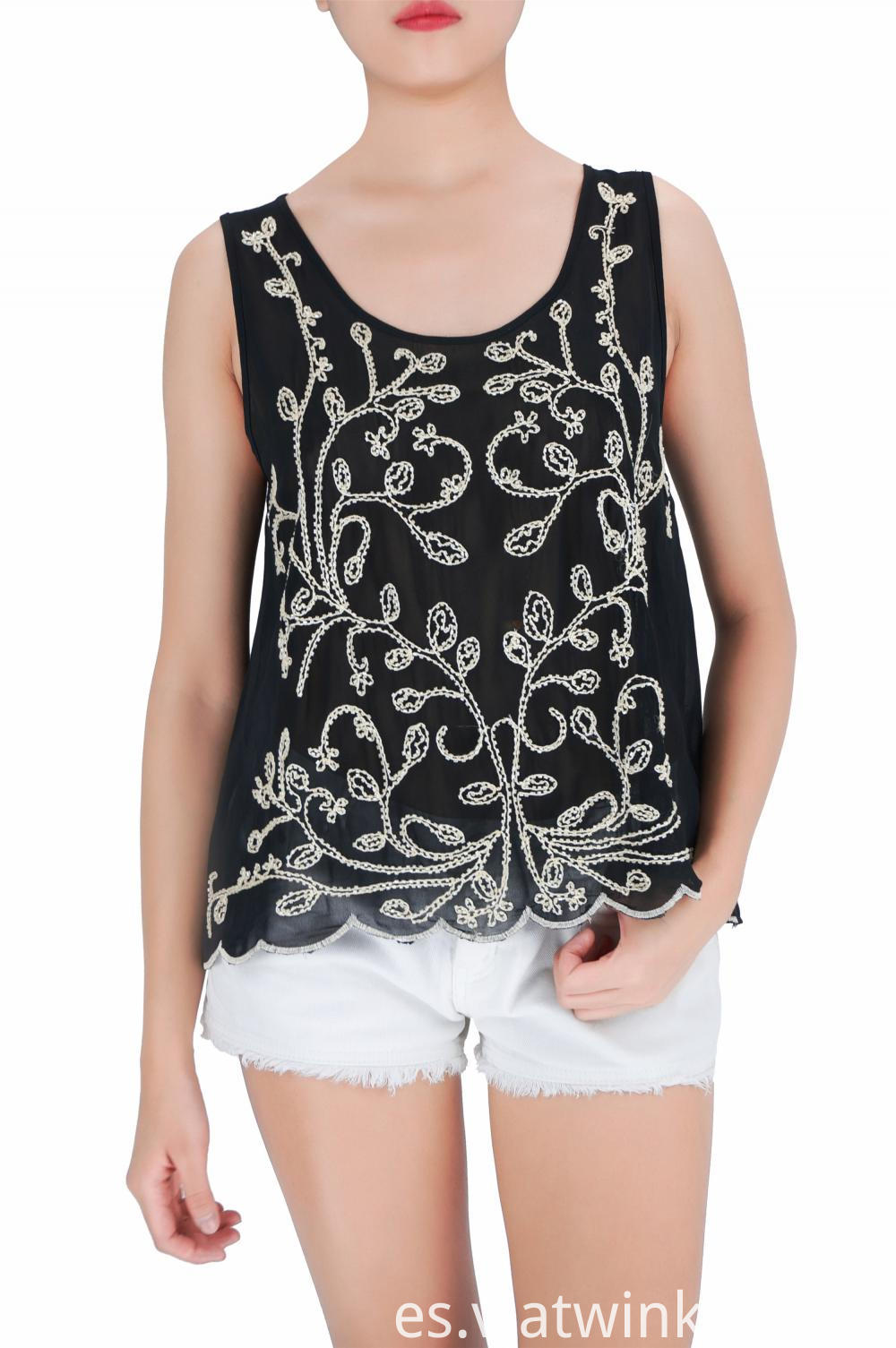 Party Embroidered Beadstank Tops