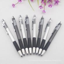 Рекламная шариковая ручка с черными кольцами
