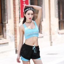 Женская мода дышащий удобные спортивные белье комплект йога одежда