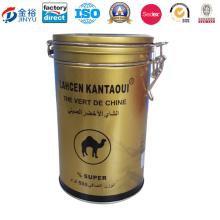 Round Shaped Metal Locked Tea Packaging