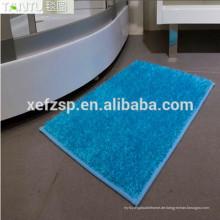quadratische shaggy 100% Polyester Mikrofaser Büschelmaschine Faltenmatte langen Haufen 100% Polyester Maschine waschbar Eingangsmatte