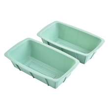 Manufacturers produce high quality portable silicone cake mold rectangle bread cake baking mold silicone Loaf pan