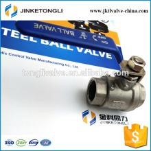JKTL2B016 manufacture 2 piece gas rb pn40 cast iron small ball valve