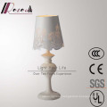 European Style White Stainless Steel Rose Flower Table Lamp