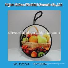 Tela de cerámica personalizada con pintura de frutas para la cocina