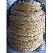 Cuerda de amarre de cuerdas de polietileno de 12 cuerdas de peso ultra alto Molecolar