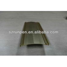 Dissipateur thermique d'extrusion d'aluminium anodisé par or