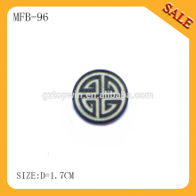 MFB96 Personalize custom jean jacket metal buttons supplier,machine printing round metal buttons