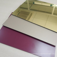 3mm Aluminum Mirror Sheet Glass Processing Anodized Stable ACP