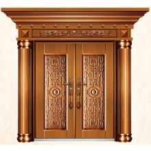 Luxo imitar latão portas exteriores para casas