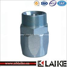 Acoplamento de mangueira hidráulico de aço inoxidável fabricado CNC