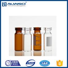 11mm Flachboden Open Top Verschlussfläschchen Chromatographie Fläschchen 2ml hplc Vial mit Etikett