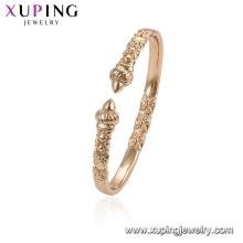 52044 xuping elegante liga de ouro pulseiras para mulheres jóias pulseira