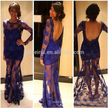 Hot Sale Sexy Prom Dresses 2016 Long Backless Lace Dresses for Women Elegant Evening Party Gowns Robe De Soiree