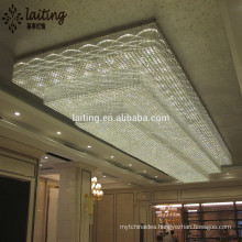 Project and custom modern star hotel rectangle crystal lighting