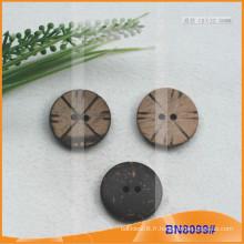Boutons de noix de coco naturels pour vêtement BN8099