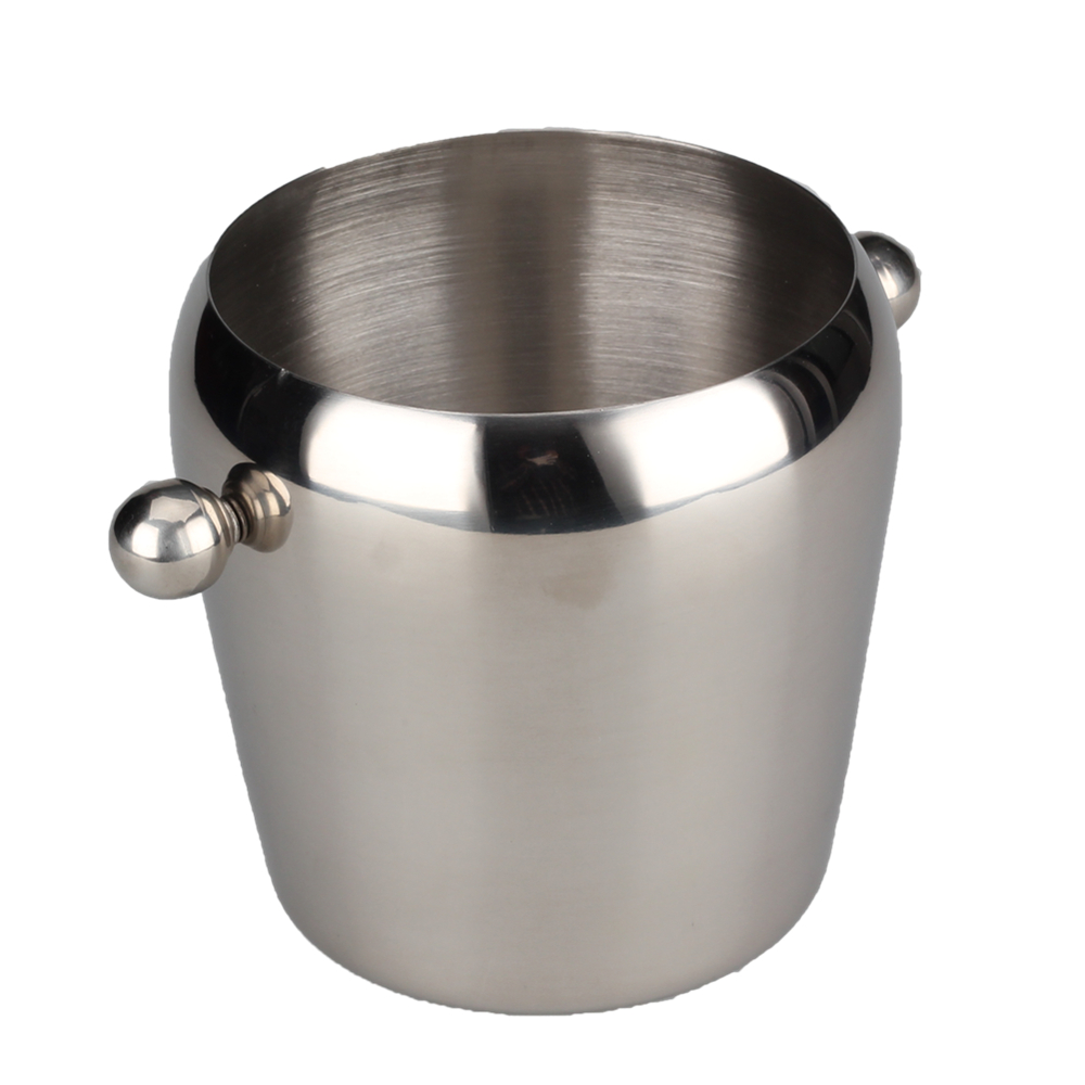 Brush Stainless Steel Ice Bucket
