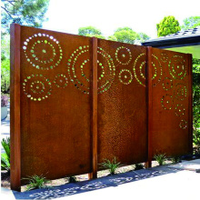 Rusty Steel Fence Screen Panel