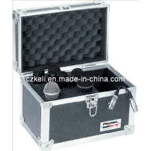 Estuche de aluminio de venta caliente para micrófono