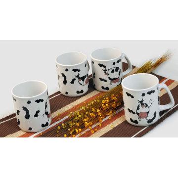 Taza de café de cerámica con diseño de vaca