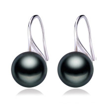 9-10mm AAA Varity Colors Freshwater 925 Silver Button Pearl Earring