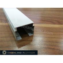 Aluminium-Kopfschiene für Vertikaljalousien mit eloxiertem Weiß oder Silber