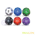 Opaque Colorful Plastic Polyhedral 12 Sides Dice
