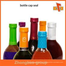 2015 mais novo belo tampão de garrafa plástica selo para vinho