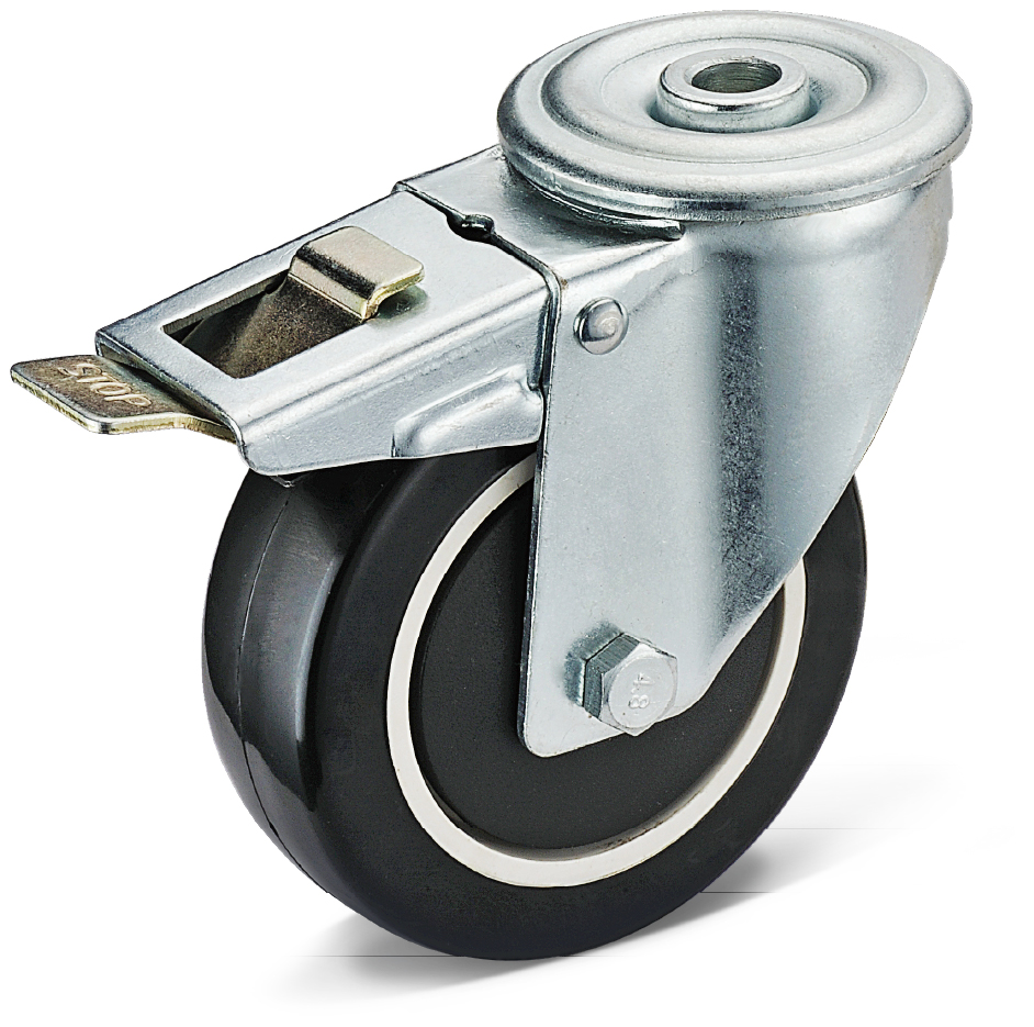PU Bolt Hole Total Brake Casters